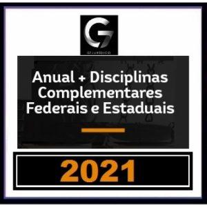 G7 Jurídico – SUPER COMBO Anual – INTENSIVOS I e II + LPE + COMPLEMENTARES Estaduais e Federais (G7 2021) Carreiras Jurídicas